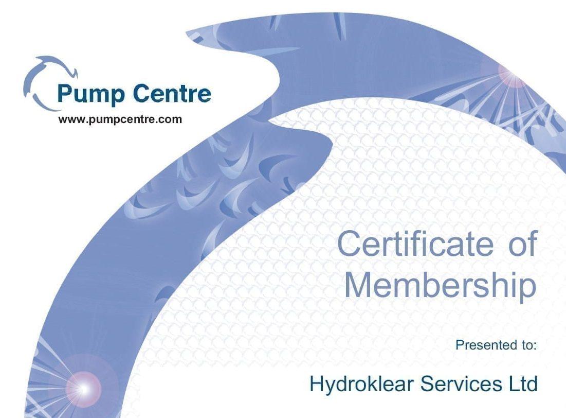 Pump Centre Membership